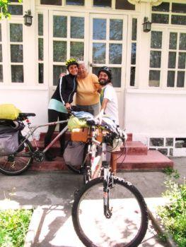 Con Aura. Madre y abuela de los viajeros