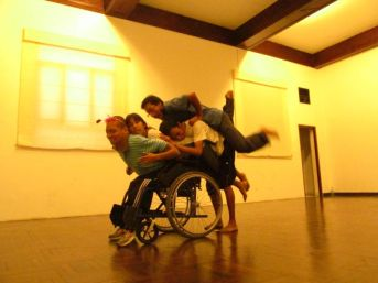 Ensayo del Ballet Kinesfera. Lima. Perú