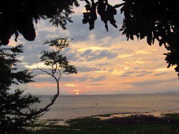 Atardecer en el lago Cocibolca