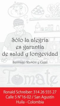 Tomate Restaurante Vegentariano / San Agustín / Colombia