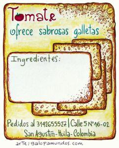Galletas / Tomate Restaurante Vegetariano / San Agustín / Colombia