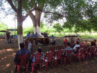 Primer día en Guate con marimbas