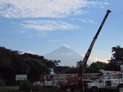 Vista del Volcán de Agua