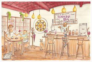 Nahui Olin Café Bar Biblioteca / Oaxaca / México / www.facebook.com/NahuiOlinCafe/