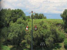 Voladores de Papantla en Cholula - Puebla