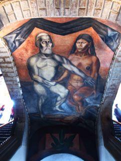 Cortés y La Malinche (Orozco) - Colegio San Idelfonso - Ciudad de México